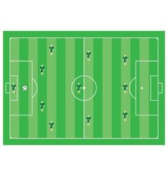 4-3-3 soccer scheme vector