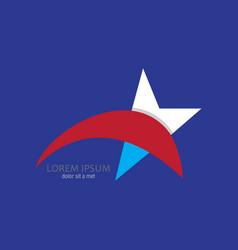 abstract star logo vector image