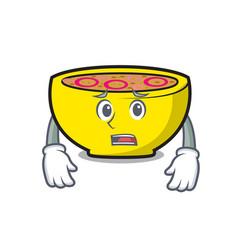 Afraid soup union mascot cartoon vector
