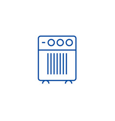 air cleaner humidifier line icon concept air vector image