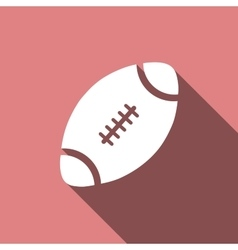 American Football ball icon with long shadow vector image