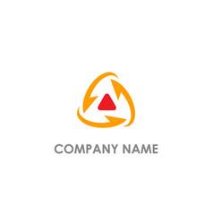 Arrow circle triangle up logo vector