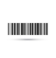 barcode icon numbers bar code label vector image