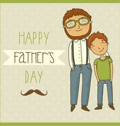 Beautiful of a father and son vector image