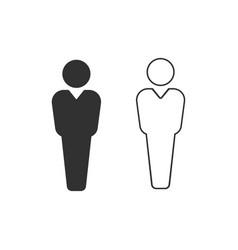 black and white user icon user silhouette symbol vector image