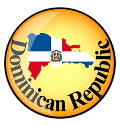 Button The Dominican Republic vector