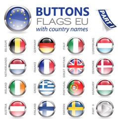 Buttons with EU Flags vector image
