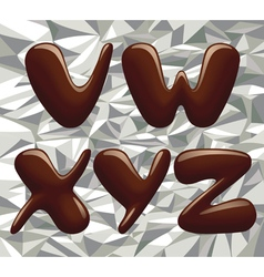 Chocolate alphabet capital letters vector image