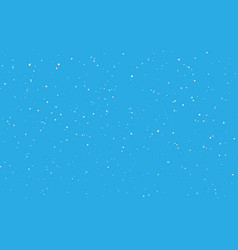 christmas snow falling snowflakes on blue vector image