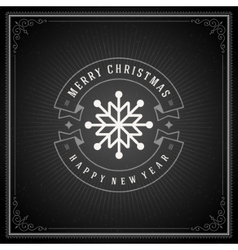 Christmas typography greeting card and decoration vector image