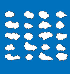 clouds iconcloudy skyclouds blue skycloud vector image