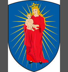 Coat of arms of thisted in southern denmark region vector