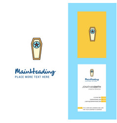 Coffin creative logo and business card vertical vector