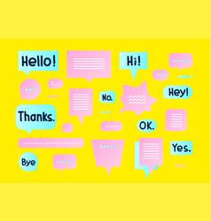 Colorful simple flat speech bubbles shapes vector