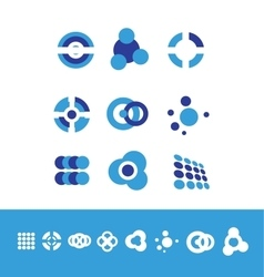 Corporate business logo set circle vector image
