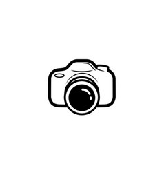 creative black camera logo design symbol vector image