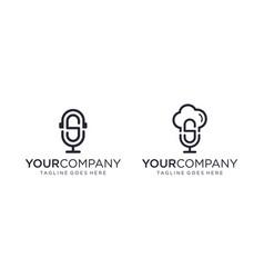 Creative podcast logo designs concept vector
