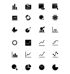 Data Analytics Icons 1 vector image