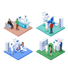 dentist appointment isometric concept vector image