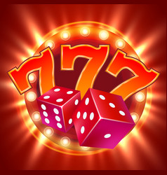 dice design two dice casino gambling vector image