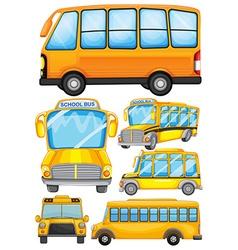 Different design of school bus vector