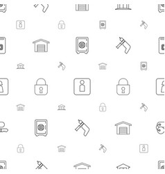 door icons pattern seamless white background vector image