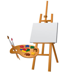 Easel and palette vector