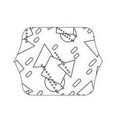 Edge quadrate with memphis geometric style vector