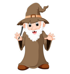 funny witch cartoon vector image
