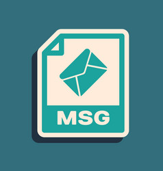 Green msg file document download msg button icon vector
