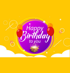happy birthday greeting banner poster template vector image