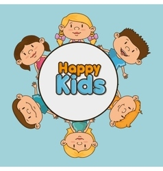 happy kids design vector image