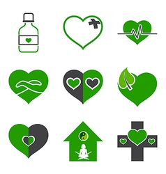 health care and ecology symbols vector image
