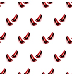 High-heeled woman shoes pattern vector