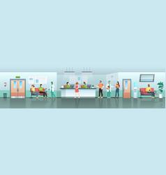 hospital waiting room medical center reception vector image