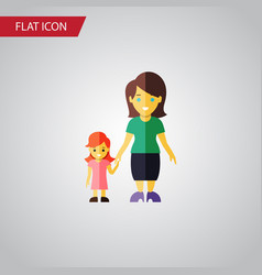 Isolated mother flat icon daugther element vector