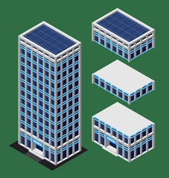 Isometric modern building vector