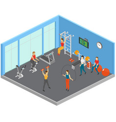 keep fit studio composition vector image