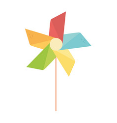 kids toys pinwheel cartoon isolated icon design vector image