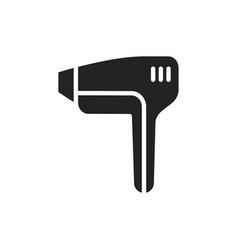 laser light epilator silhouette icon hair removal vector image
