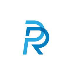 Letter pr or rp vector