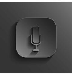 Microphone icon - black app button vector image