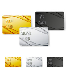 modern wave abstract vip card collection vector image