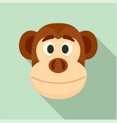 monkey head icon flat style vector image