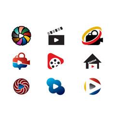 movie logo collection vector image