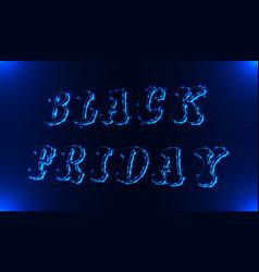 neon black friday sale inscription design vector image