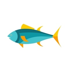 Ocean animal design of tuna fish cartoon animals vector image