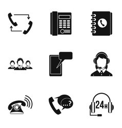 Online consultation icons set simple style vector