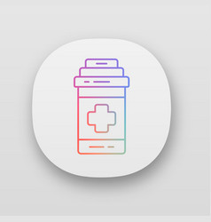 Painkiller app icon game cure medical aid to vector