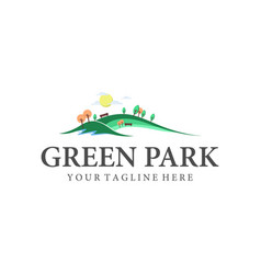 park and outdoor logo designs inspirations vector image